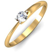 Mani Jewel 92.5Kt Sterlling Silver Certified Diamond Solitaire Ring Design-1
