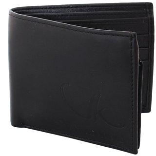 Vagan-kate plain black leather wallet for men