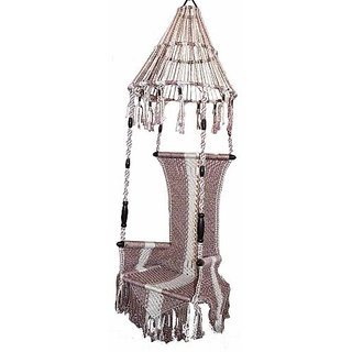 Kaushalendra Rope Swing Hammocks Naylon Cotton Patio Outdoor Garden Zula  Jhula