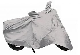 Bike Body Cover For Hero CD Deluxe Motorcyle Body Cover Silver Color.
