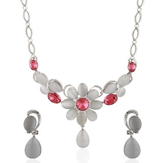 Anuradha Art Pink Colored Necklace For Women KN-649
