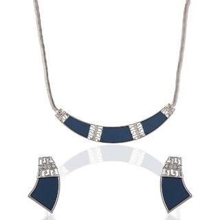 Anuradha Art Blue Necklace For Women KN-651