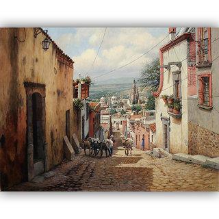 Vitalwalls Landscape Painting Canvas Art Print (Landscape-238-30cm)