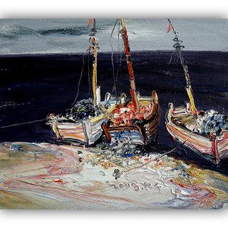 Vitalwalls Landscape Canvas Art Print on Wooden Frame (Landscape-252-F-60cm)