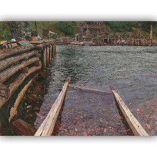 Vitalwalls Landscape Painting Canvas Art Print (Landscape-253-60cm)