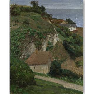 Vitalwalls House on the cliffs Canvas Art Print.Landscape-247-30cm