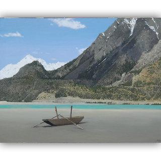 Vitalwalls Landscape  Canvas Art Print on Wooden Frame (Landscape-263-F-45cm)