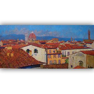 Vitalwalls Landscape Painting Canvas Art Print (Landscape-288-30Cm)