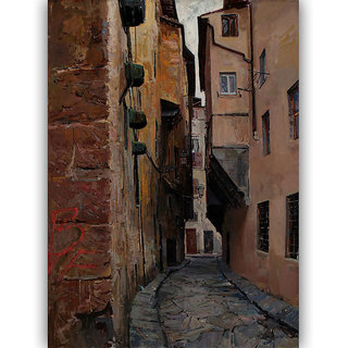 Vitalwalls Landscape Painting Canvas Art Print (Landscape-291-F-30Cm)