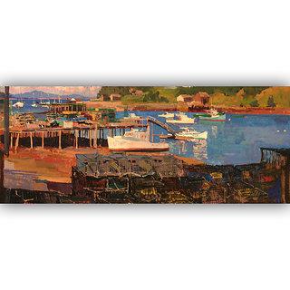 Vitalwalls Landscape Canvas Art Print on Wooden Frame Landscape-295-F-30cm