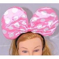 Planet Jashn Minnie White Dots Hairband - Pink