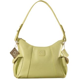 eZeeBags YA850v1 womens leather handbag. Large size, full width front, rear  2 side pocket with adjustable shoulder strap.