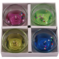 E-Retailer Fancy Multi Colour Gel Candle (Set Of 4 Pcs.