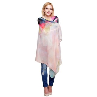 Chiktones Printed Polyester Womens Scarf