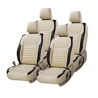 Hi Art Beige/Black Complete Set Leatherite Seat covers Tata Zest