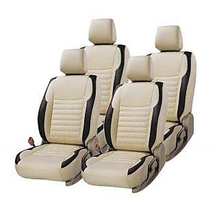 Hi Art Beige Black Complete Set Leatherite Seat Covers
