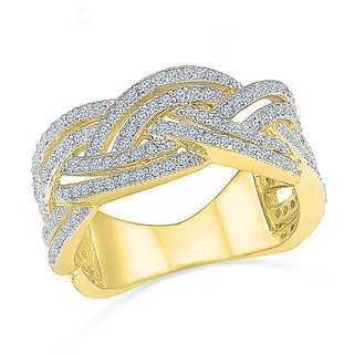 Radiant Bays Fancy Knot Diamond Ring in 18k Yellow Gold (Diamond Quality SI-GH)