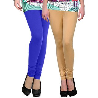 3756e61103ecf Buy Stylobby Blue And Beige Kids Legging Pack Of 2 Online @ ₹329 from  ShopClues