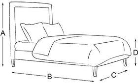 AMAZING BED DBR QUEEN SIZE Furnishwood 00144990