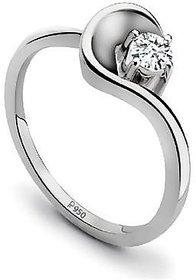 Platinum Single Diamond Ring For Women by Suranas Jewelove JL PT 510