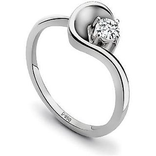 Platinum Single Diamond Ring For Women By Suranas Jewelove Jl Pt 510