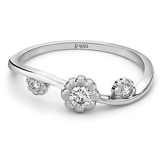 3157a0a4576 Platinum Ring With Three Diamonds For Women By Suranas Jewelove JL PT 13