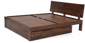PERSIA STORAGE BED (TEAK FINISH) king size Furnishwood 00136990