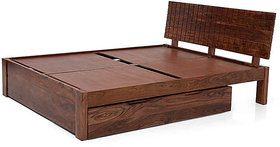 PERSIA STORAGE BED (TEAK FINISH) queen size Furnishwood 00131990