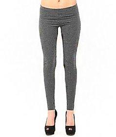 KBs Ankle Length Free Size Plain Gray Leggings For Women