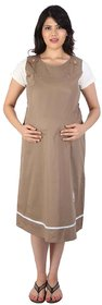 MomToBe Maternity / Pregnancy Gown / Dress Brown