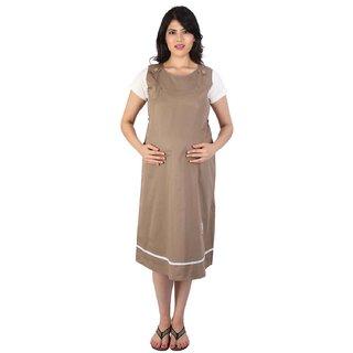 MomToBe Maternity / Pregnancy Gown / Dress Brown