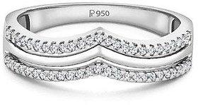 Platinum Ring With A Diamond Crown by Suranas Jewelove SJ PTO 153