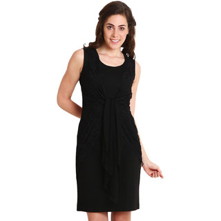 Soie Black  A-line Dress