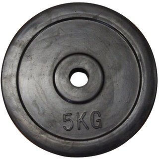 Body Maxx Spare Rubber Weight Plate 5 Kg X 1 Pc For Home Gym Exercises