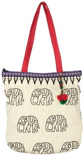 Pick Pocket Accrue Tote With Elephant Motiff Bag