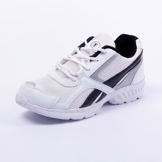 Foot 'n' Style Comfortable White & Black Sports Shoes (fs417)