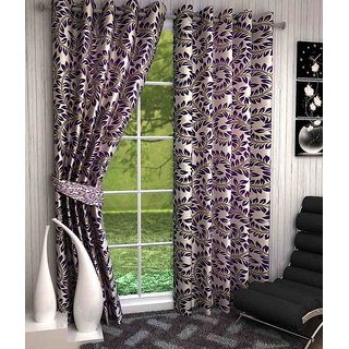 K Decor Polyester Multicolor Nature Door Curtain(Set Of 2)