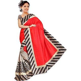 Muta Fashions Dashing Bhagalpuri Saree