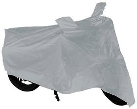 Silver Bike Body Cover for TVS Jupiter