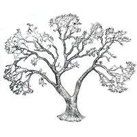 JaipurCrafts Decorative Wall Hanging Of Antique Tree Showpiece  -  60.96 Cm (Aluminium, Silver)
