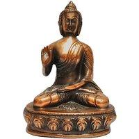 JaipurCrafts Black Matel Spiritual Lord Gautam Buddha Showpiece  -  26.67 Cm (Aluminium, Brown)