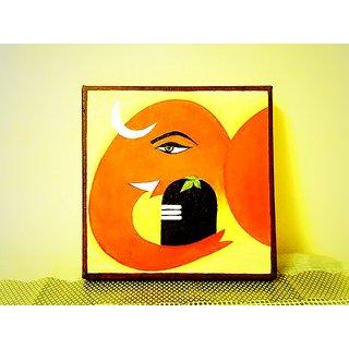 Shiv Ganesha Wall Painting