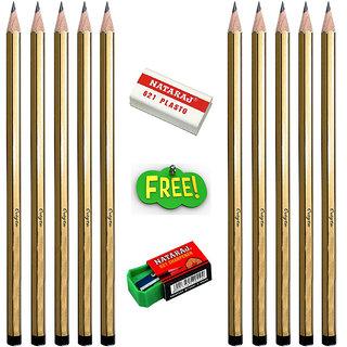 Natraj Glow Super Black Pencils - 10 Pcs