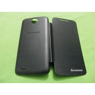 New Black P.U Leather Battery Slim Flip Flap Cover Case Pouch for Lenovo S820