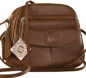 Nothing like a Maya Teen genuine leather sling bag - to enhance your style  confidence. eZeeBags YT842v3