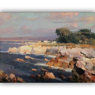 Vitalwalls Landscape Canvas Art Print on Wooden Frame Landscape-166-F-30cm