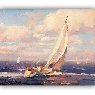 Vitalwalls Landscape Painting Canvas Art Print (landscape-108-45Cm)