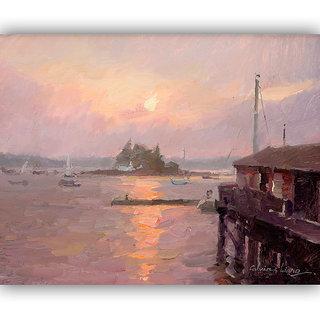 Vitalwalls Landscape Canvas Art Print On Wooden Framelandscape-109-F-45Cm)