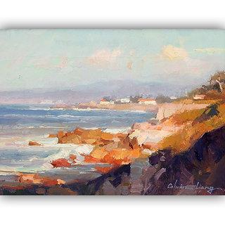 Vitalwalls Landscape Painting Canvas Art Print (landscape-110-45Cm)