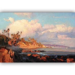 Vitalwalls Landscape Painting Canvas Art Print (landscape-117-60Cm)